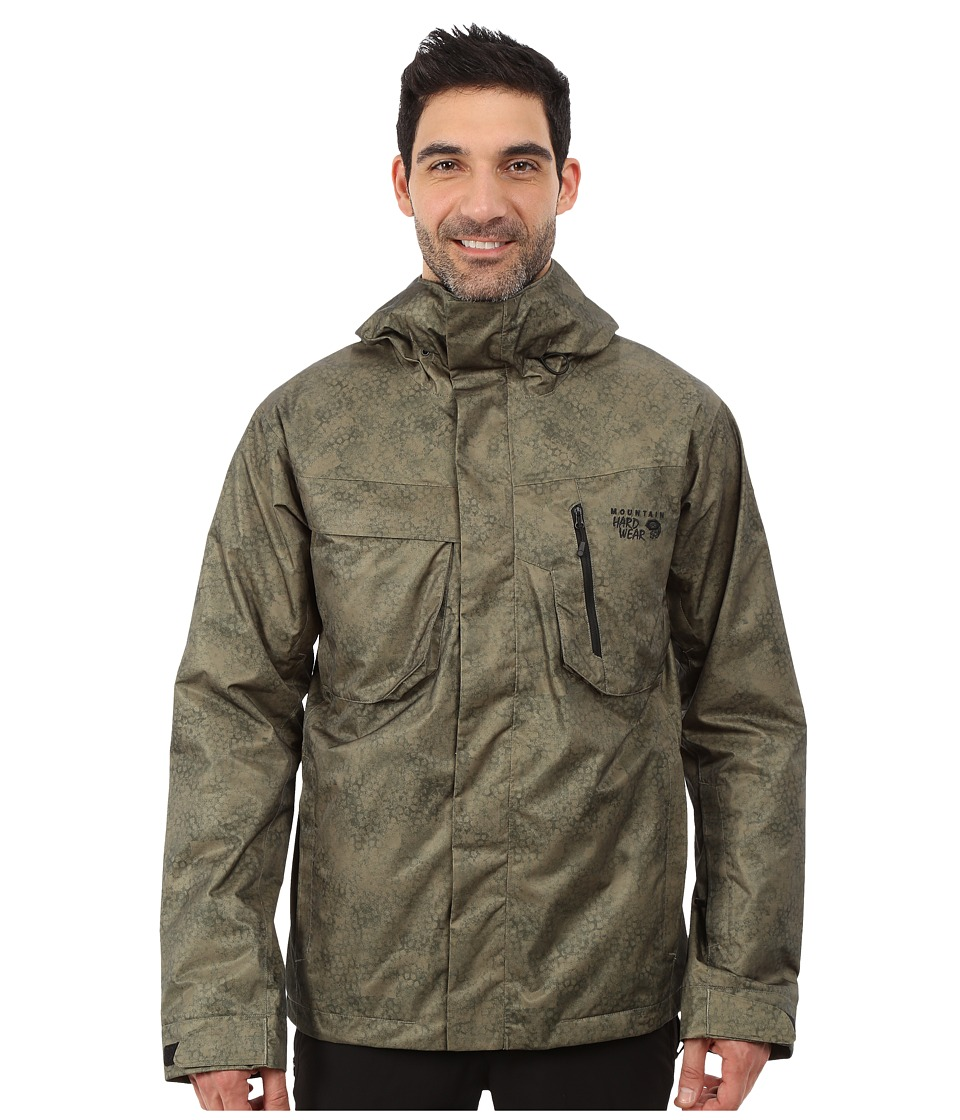 Mountain Hardwear - Snowzilla Printed Jacket (Stone Green) Men