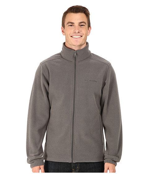 Columbia - Crater Peak II Full Zip Fleece (Charcoal Heather) Men's Fleece