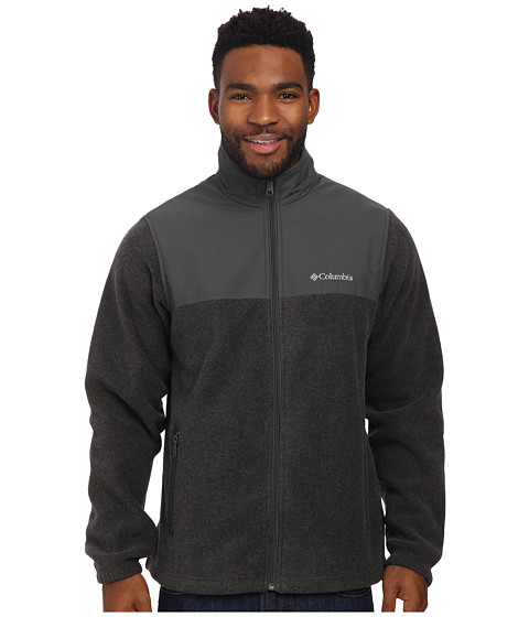 Columbia - Steens Mountain Tech II Fleece (Charcoal Heather/Grill) Men's Fleece