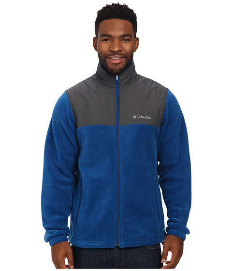 Columbia - Steens Mountain Tech II Fleece (Marine Blue/Grill) Men