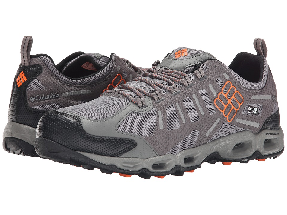 Columbia - Ventfreak Outdry (Light Grey/Heat Wave) Men's Shoes