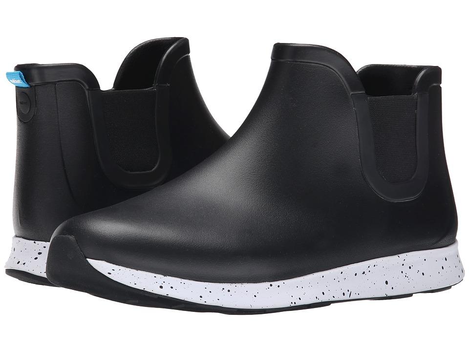 Native Shoes - Apollo Rain (Jiffy Black/Shell White/Black Speckle/Black Rubber) Rain Boots