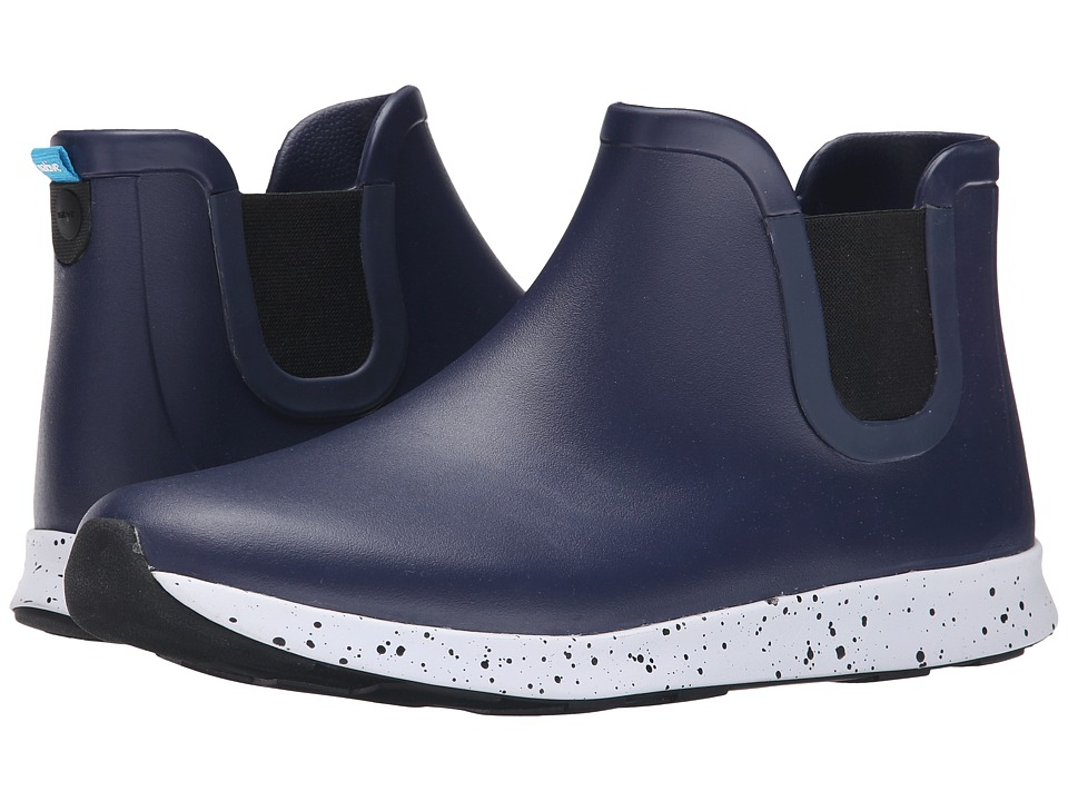 Native Shoes - Apollo Rain (Regatta Blue/Shell White/Black Speckle/Black Rubber) Rain Boots