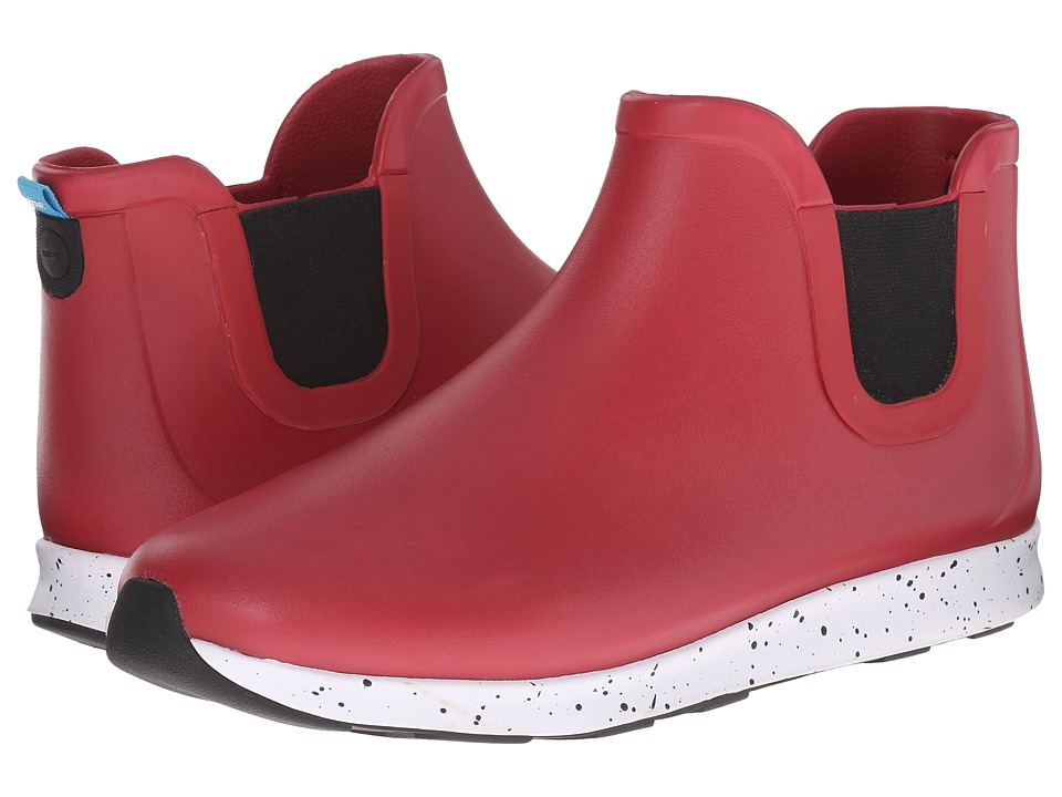 Native Shoes - Apollo Rain (Fire Truck Red/Shell White/Black Speckle/Black Rubber) Rain Boots
