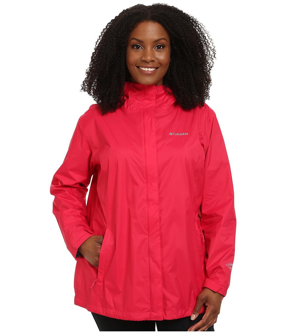 Columbia - Plus Size Arcadia II Jacket (Ruby Red) Women's Coat