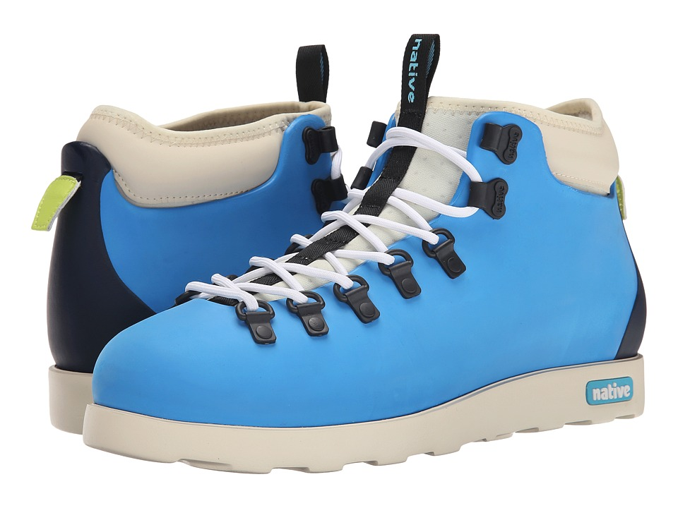 Native Shoes - Fitzsimmons (Megamarine Blue/Regatta Blue/Bone White) Shoes
