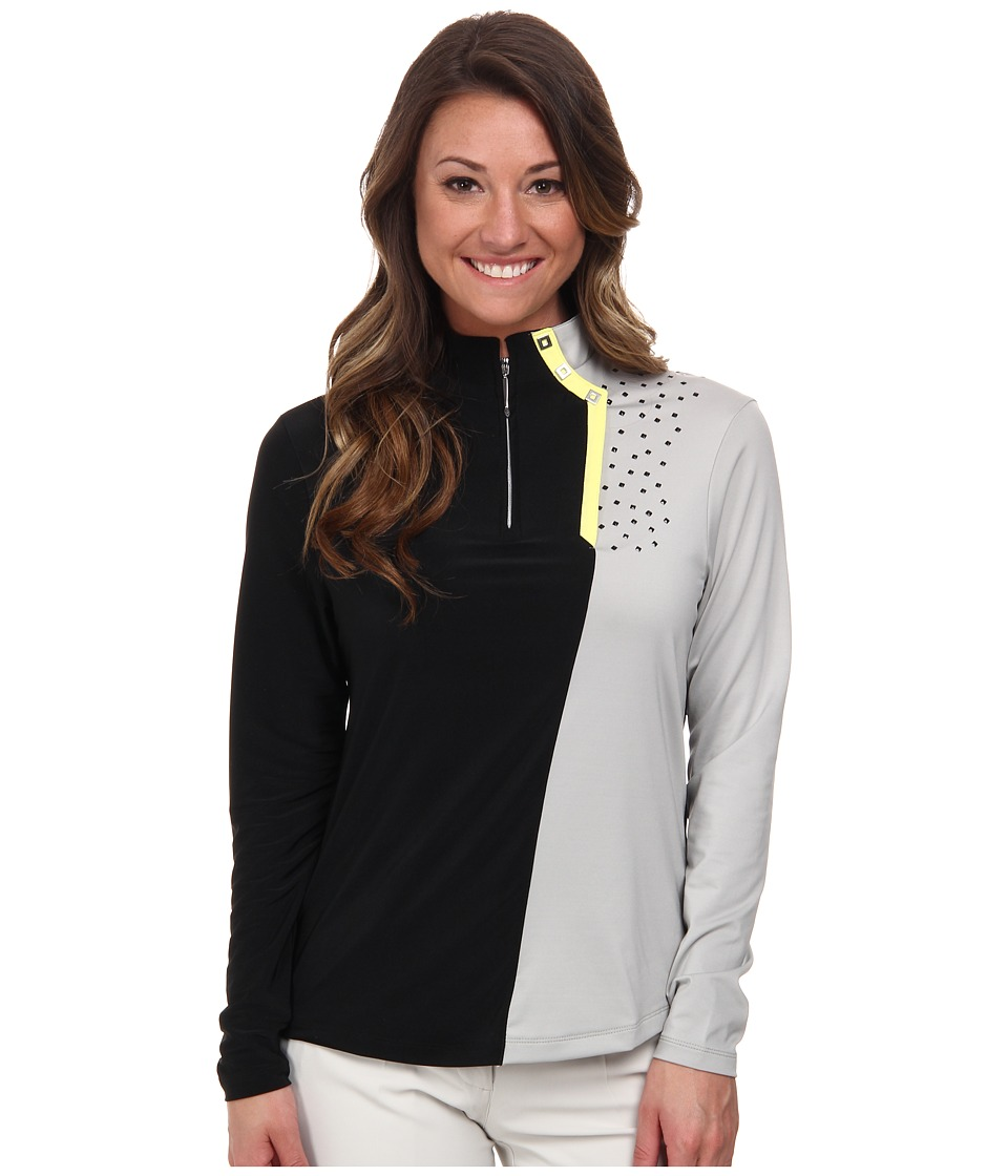 Jamie Sadock - Long Sleeve Top with Textured Dots (Dove Grey) Women's Long Sleeve Pullover