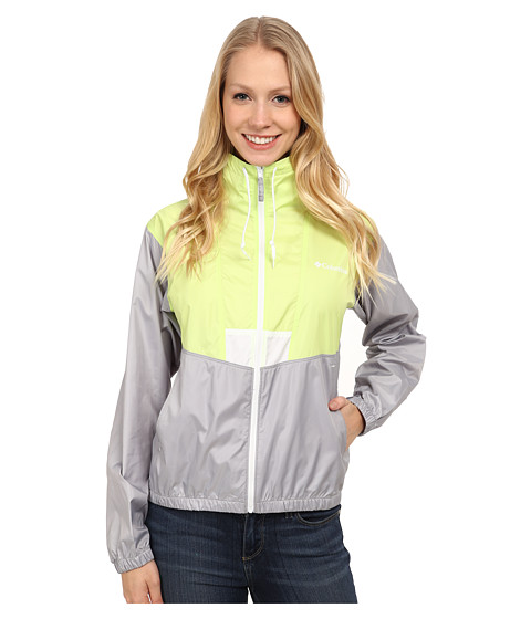 Columbia - Flashback Windbreaker (Tippet Matte/Columbia Grey/White) Women