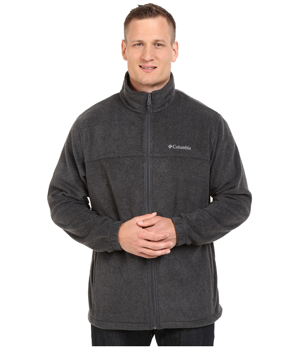Columbia Big Tall Steens Mountain Full Zip 2.0 Jacket (Charcoal Heather) Men