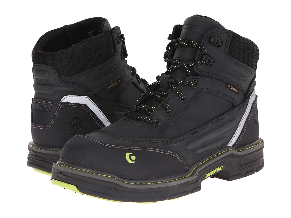 Wolverine - Overman 6 Composite Toe Boot (Black/Grey) Men's Work Boots