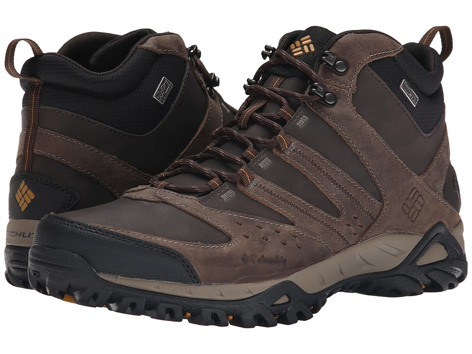 Columbia - Peakfreak XCRSN Mid Leather Outdry (Mud/Caramel) Men's Hiking Boots