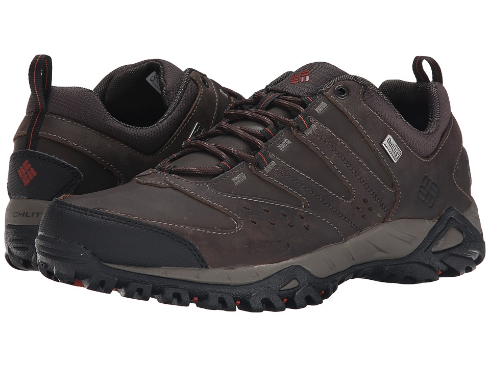 Columbia - Peakfreak XCRSN Leather Outdry (Mud/Cedar) Men's Shoes