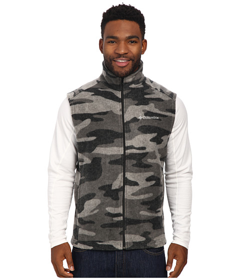 Columbia - Steens Mountain Printed Vest (Black Tweed Camo) Men's Vest