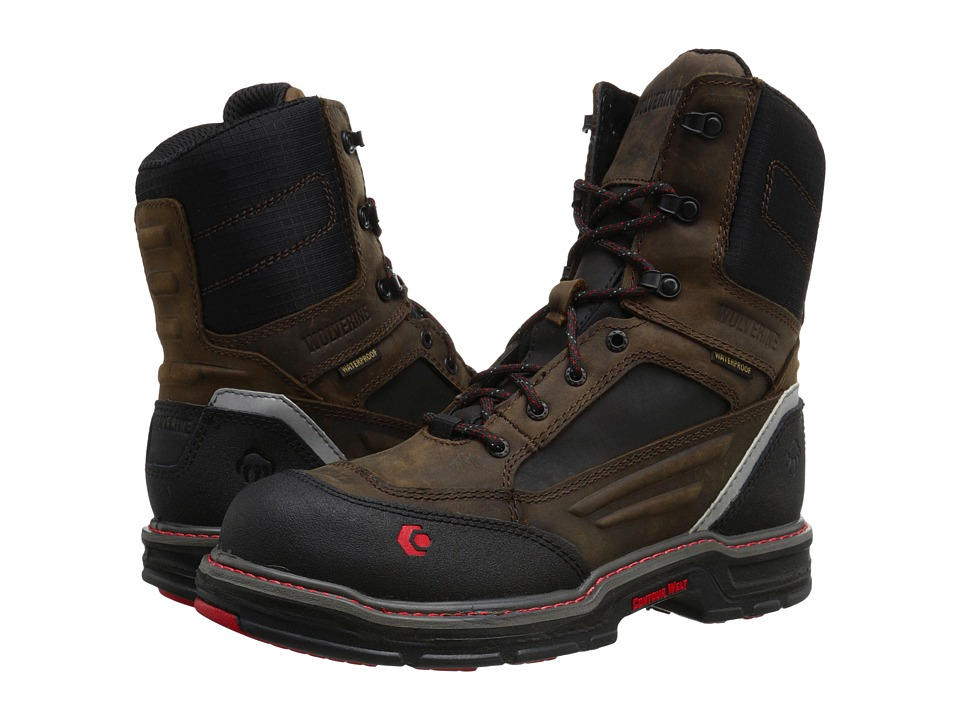 Wolverine - Overman 8 Composite Toe Boot (Brown/Black) Men's Work Boots
