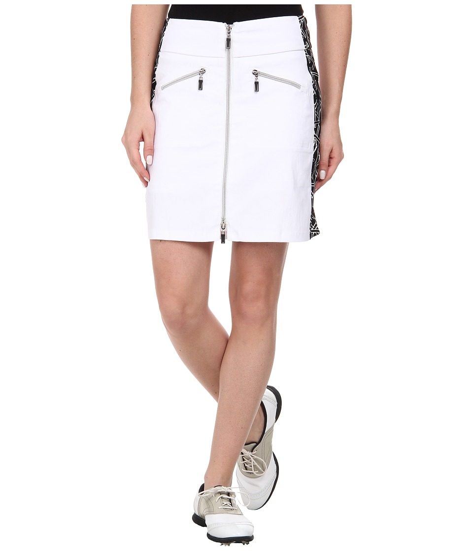 Jamie Sadock - Skinnylicious 18 in. Chopstix Side Panel Skort (Sugar White) Women