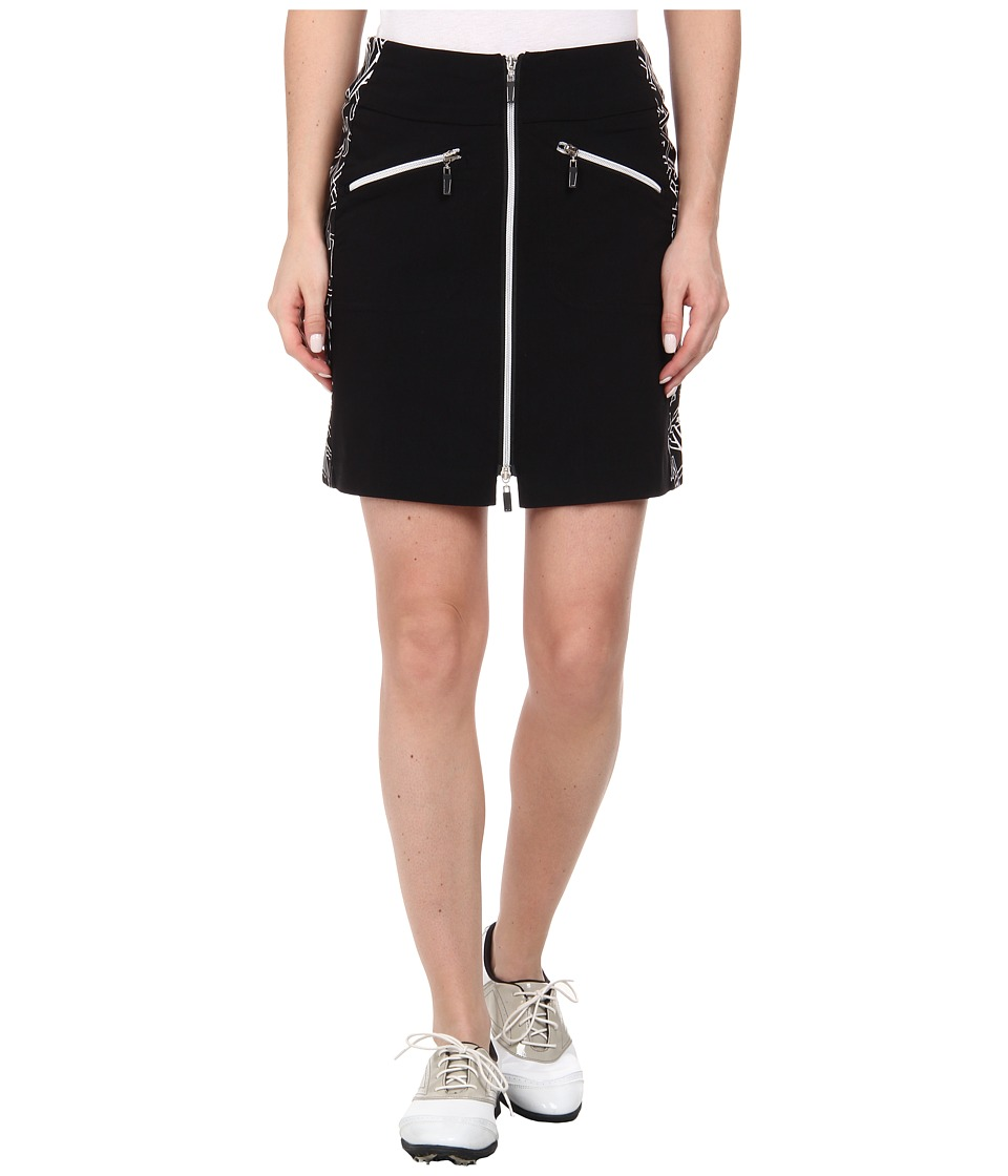Jamie Sadock - Skinnylicious 18 in. Chopstix Side Panel Skort (Jet Black) Women's Skort
