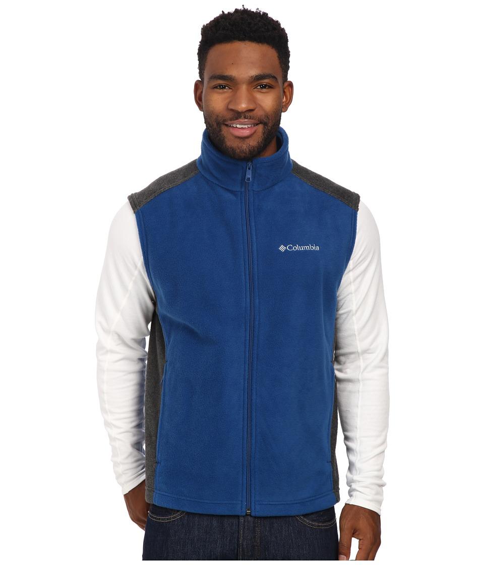 Columbia - Steens Mountain Vest (Marine Blue/Charcoal Heather) Men's Vest