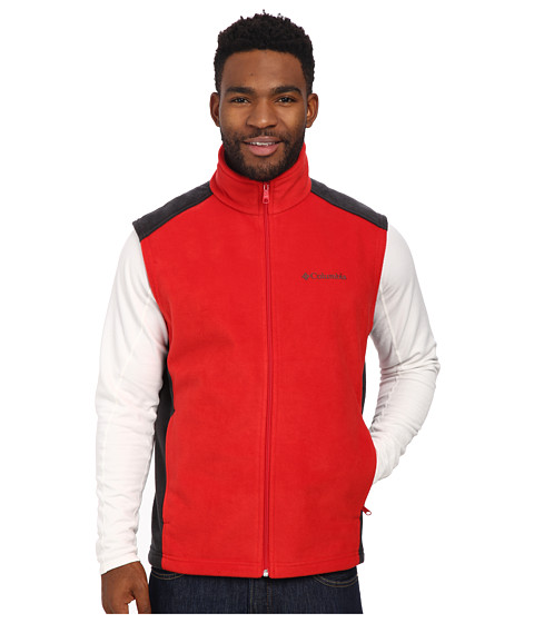 Columbia - Steens Mountain Vest (Bright Red/Black) Men's Vest