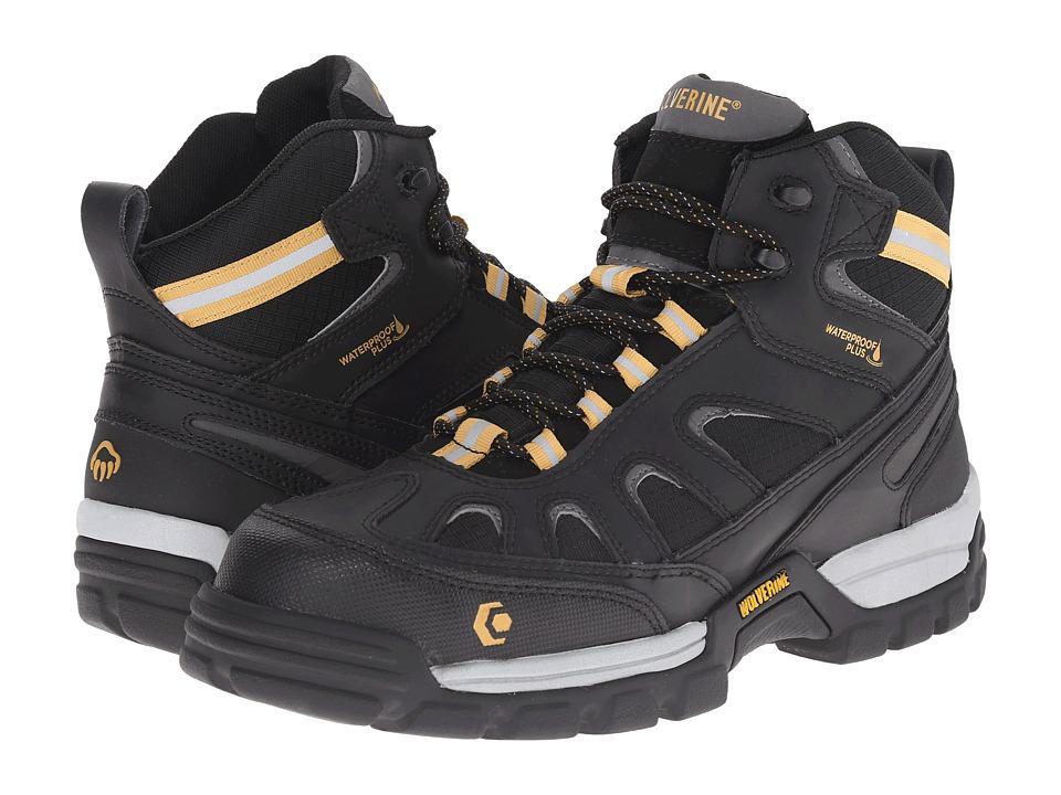 Wolverine - Tarmac FX Mid Composite Toe Boot (Black) Men's Work Boots