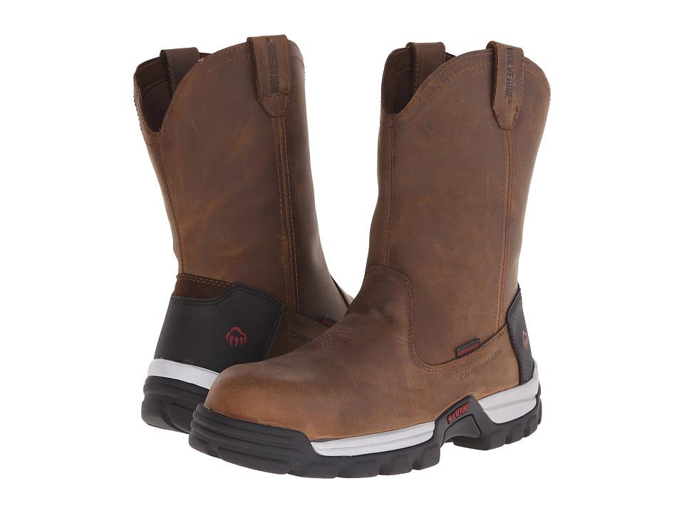 Wolverine - Tarmac 10 Safety Toe Wellington (Brown) Men's Work Boots