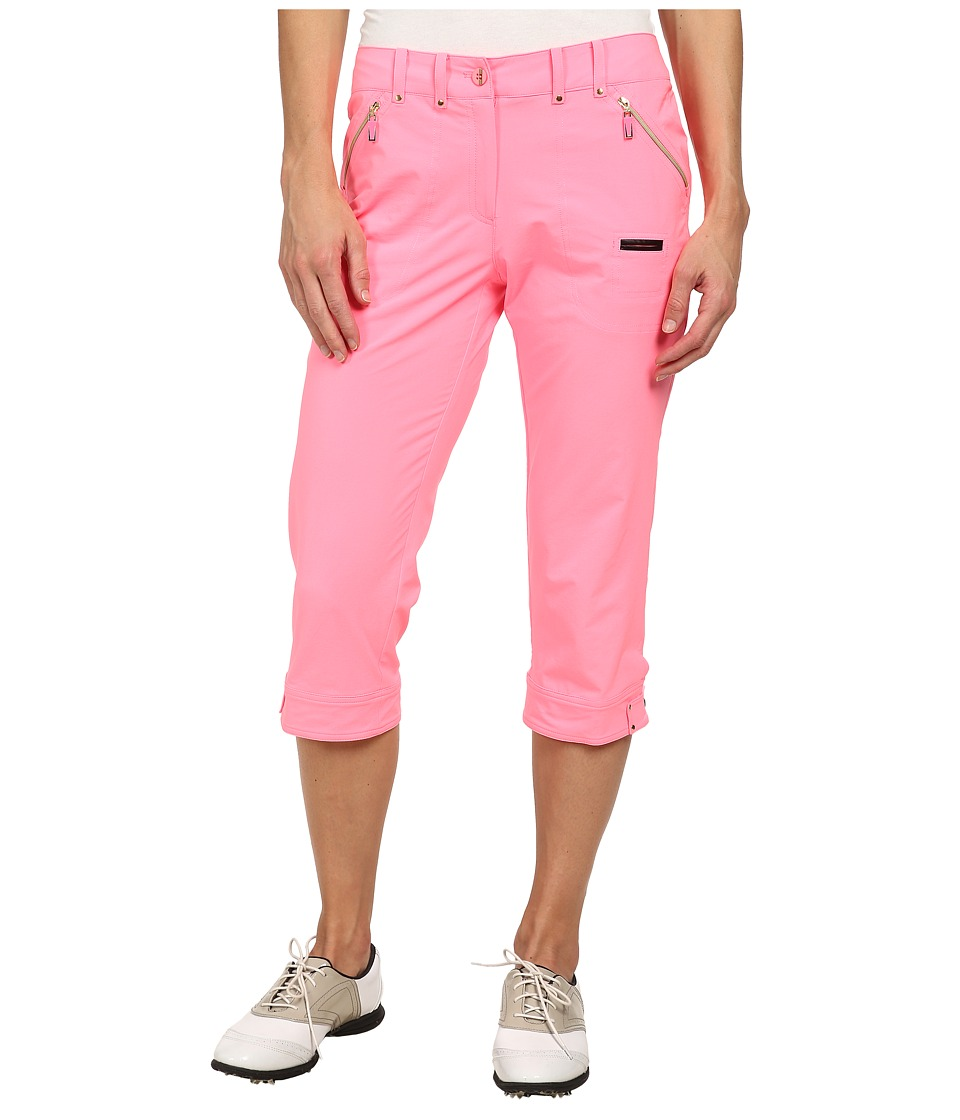 Jamie Sadock - Airwear Light Weight 28.5 in. Pedal Pusher (Bombshell Pink) Women's Capri