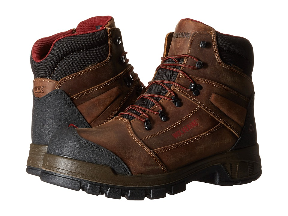 Wolverine - Renton LX 6 Composite Toe Boot (Brown) Men's Work Boots