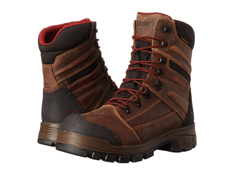 Wolverine Renton LX 8 Composite Toe Boot (Brown) Men