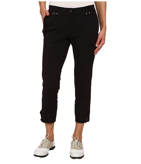 Jamie Sadock - Airwear Light Weight 33 in. Mid Calf Capri (Jet Black with Gold Zippers) Women