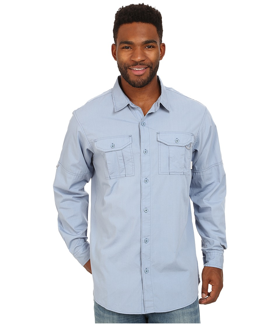 Columbia - Pine Park Long Sleeve Shirt (Dark Mirage) Men's Long Sleeve Button Up