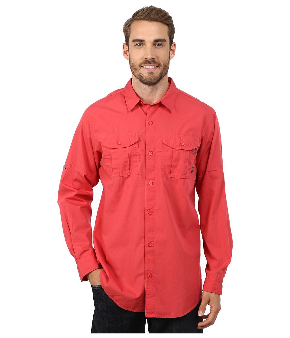 Columbia - Pine Park Long Sleeve Shirt (Sunset Red) Men's Long Sleeve Button Up