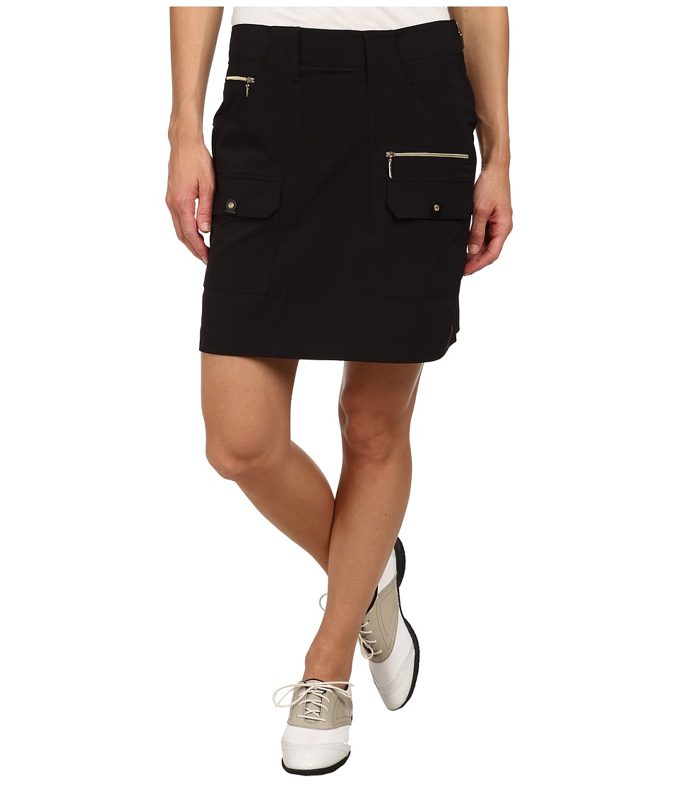 Jamie Sadock - Airwear Light Weight 18 in. Skort (Jet Black with Gold Zippers) Women's Skort