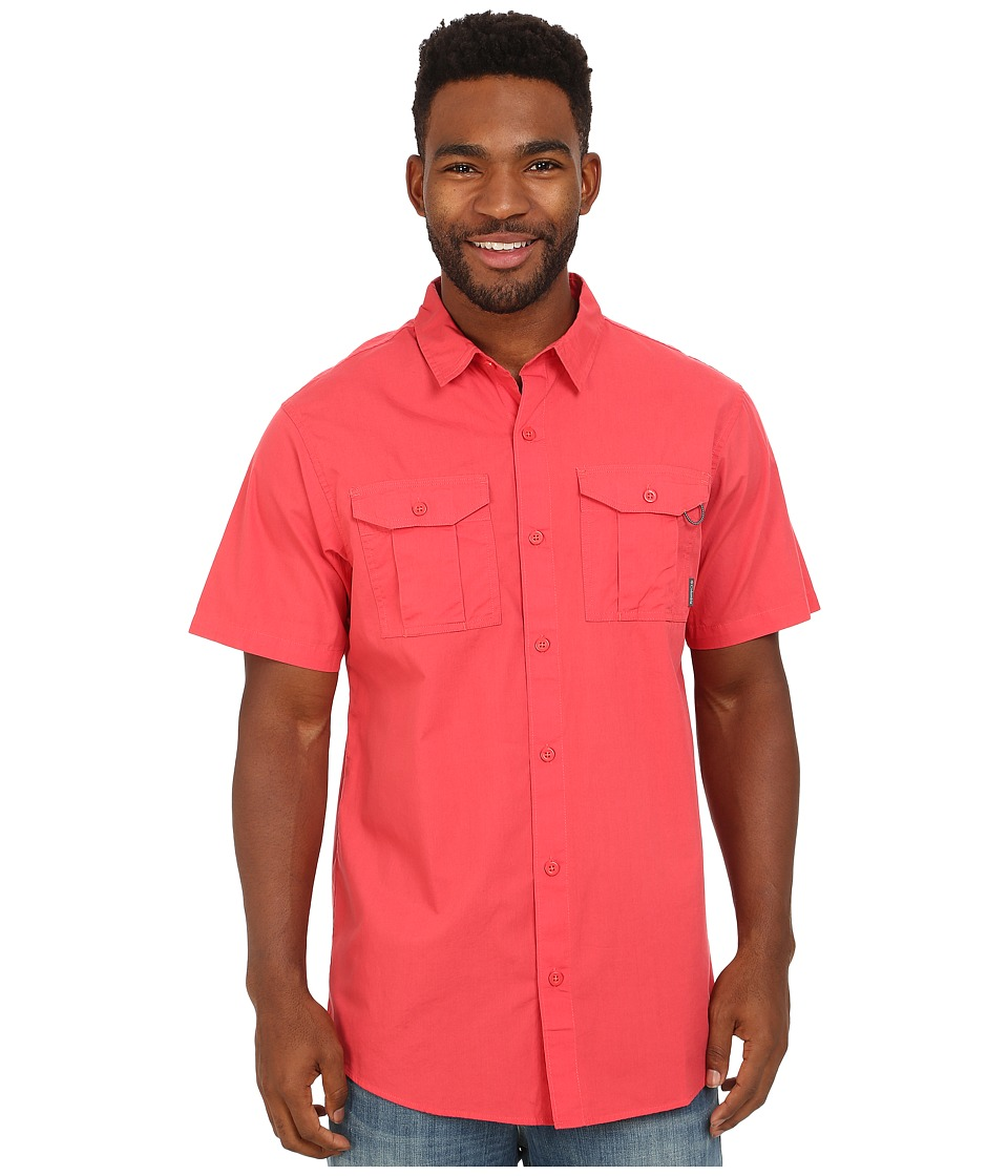Columbia - Pine Park Short Sleeve Shirt (Sunset Red) Men's Short Sleeve Button Up