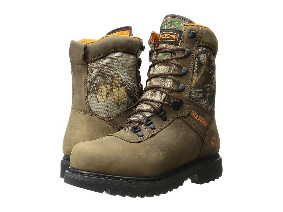 Wolverine - Big Horn Plus 8 Boot (Brown/RealTree) Men's Hiking Boots