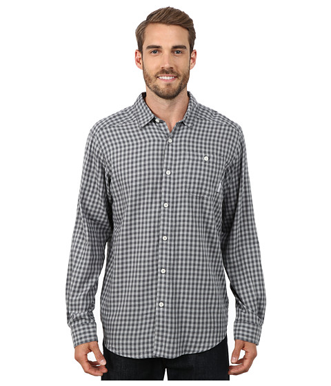 Columbia - Cornell Woods Flannel Long Sleeve Shirt (Graphite Twill) Men's Long Sleeve Button Up