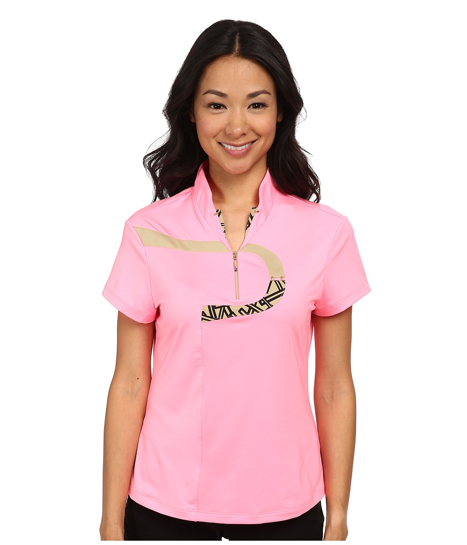 Jamie Sadock - Chopstix Short Sleeve Top (Bombshell Pink) Women's Short Sleeve Knit