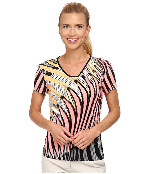 Jamie Sadock - Actif Kaleidoscope Crunchie Short Sleeve Top (Momo) Women