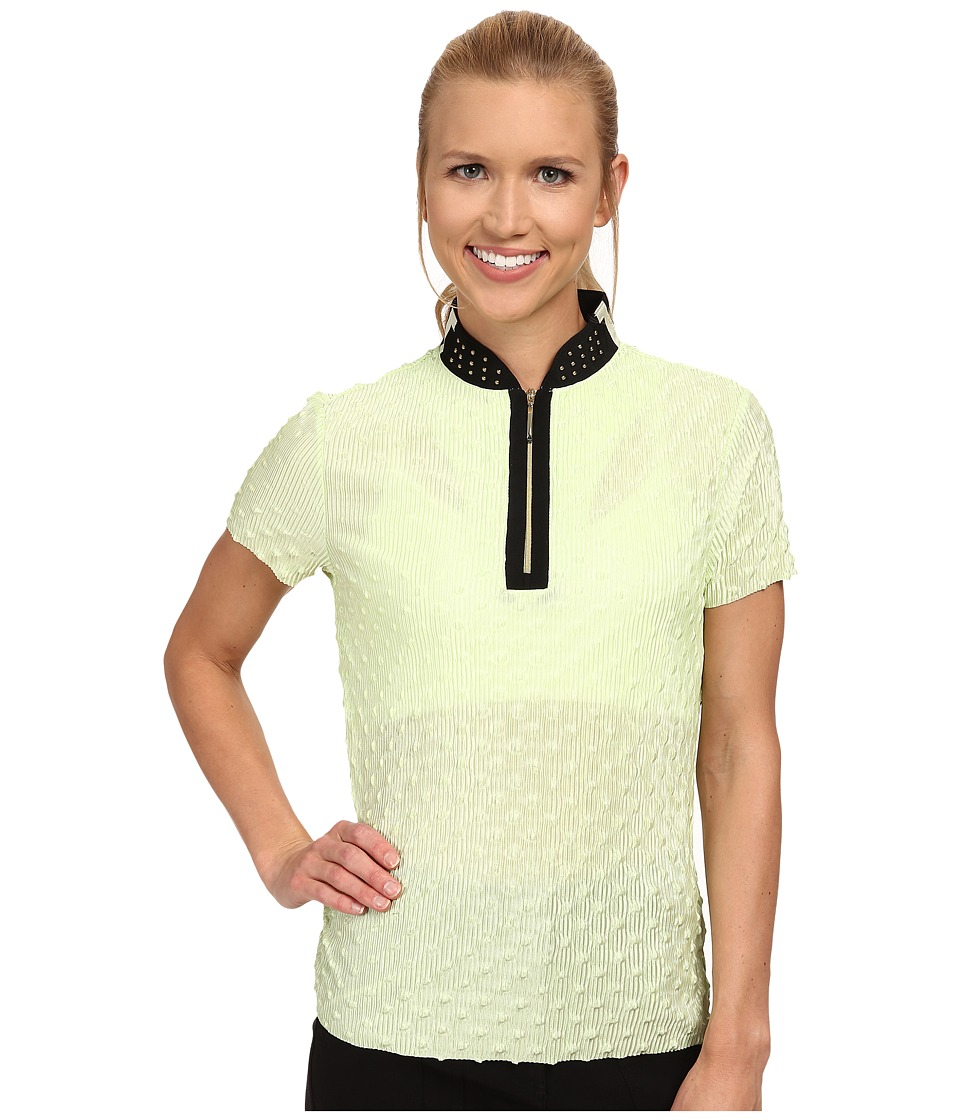 Jamie Sadock - Popcorn Crunchie Short Sleeve Top (Pistachio) Women's Short Sleeve Knit