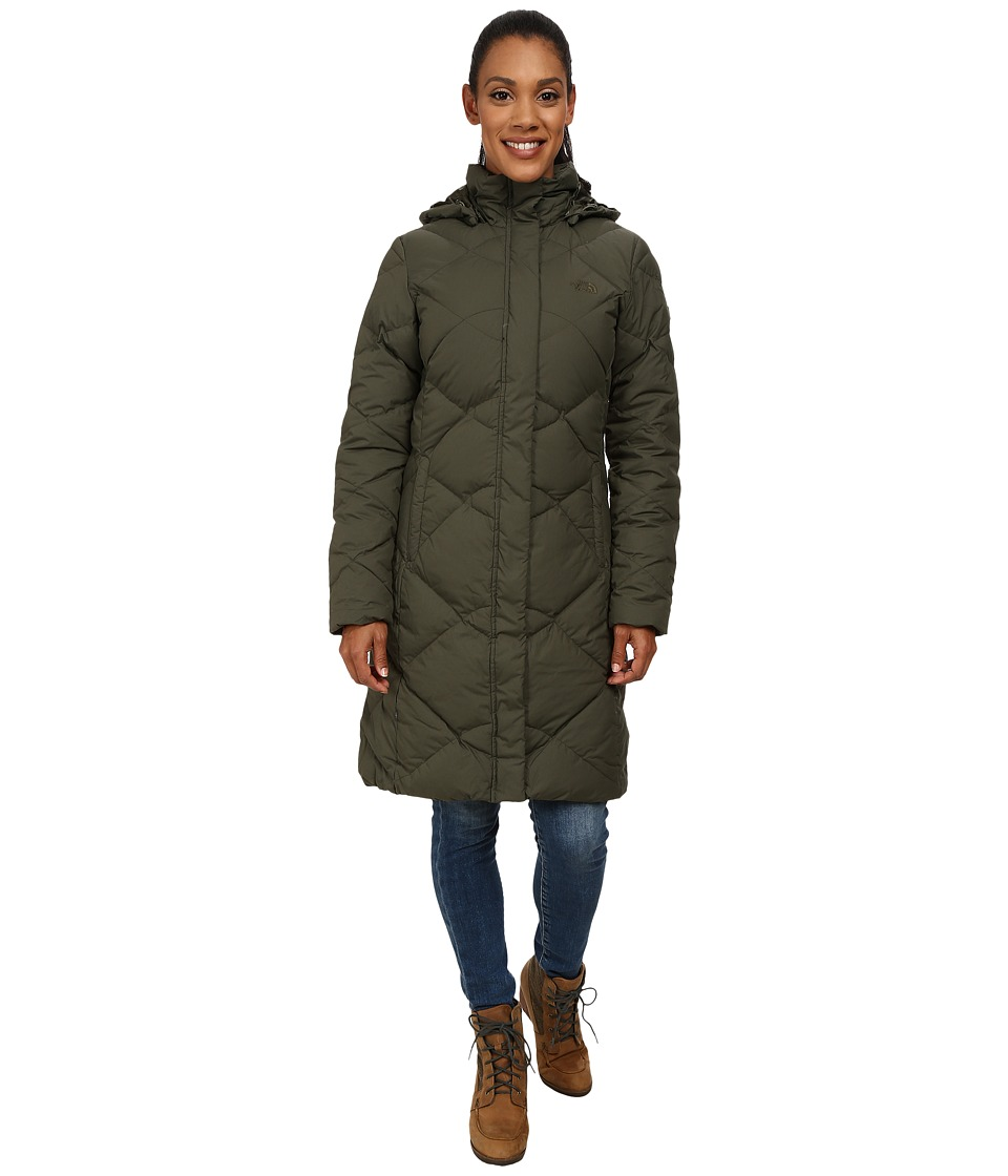 The North Face - Miss Metro Parka (Forest Night Green Heather) Women's Coat