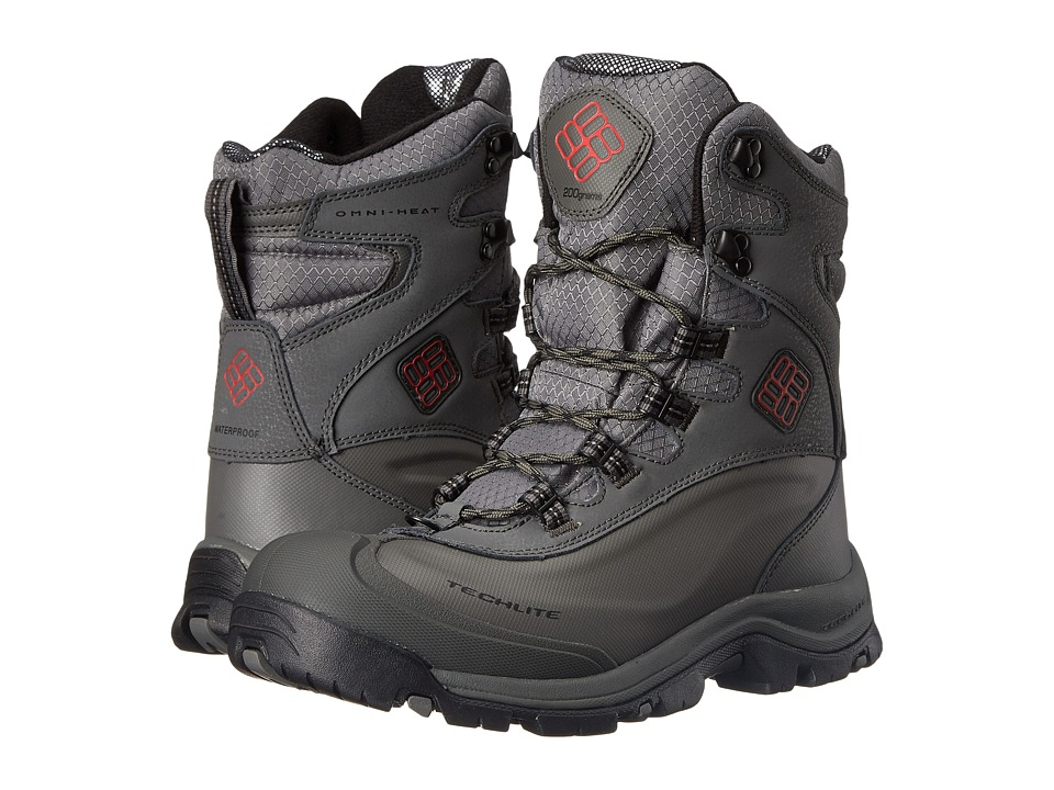 Columbia - Bugaboot Plus III Omni-Heat (Charcoal/Bright Red) Men's Cold Weather Boots