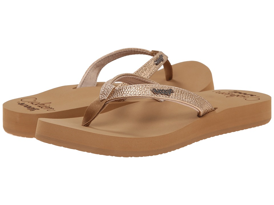 Reef - Star Cushion Sassy (Rose Gold) Women's Sandals