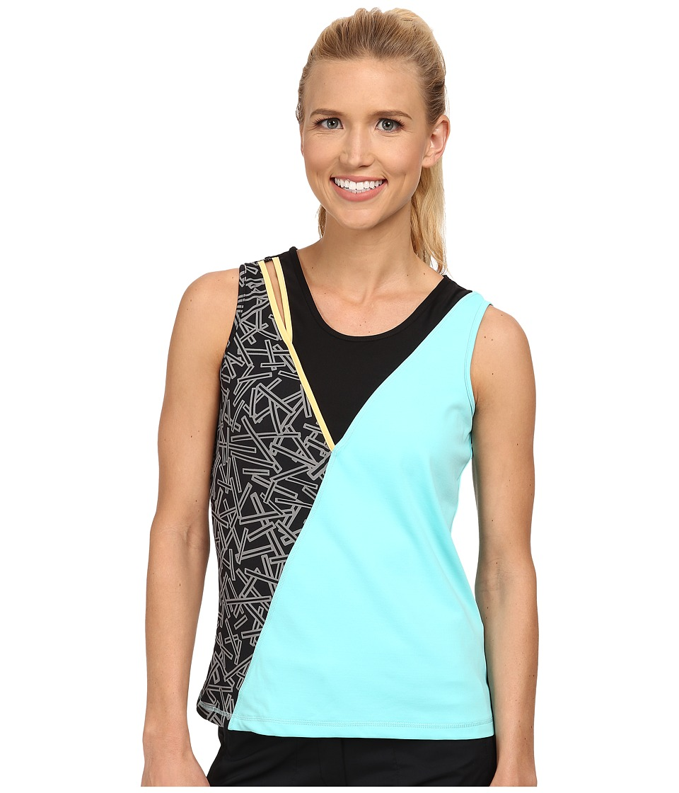 Jamie Sadock - Actif Chopstix Sleeveless Tank Top with Cutout at Shoulder (Omni Green) Women's Sleeveless