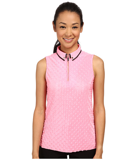 Jamie Sadock - Popcorn Crunchie Sleeveless Top (Bombshell Pink) Women's Sleeveless