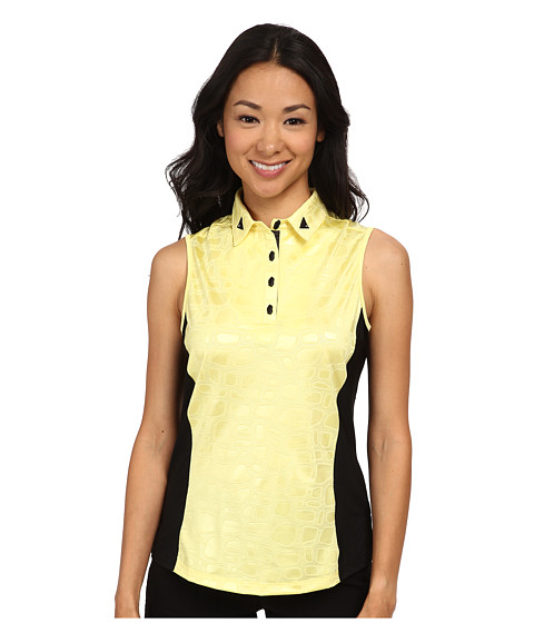 Jamie Sadock - Stone Textured Print Sleeveless Top (Buttercup) Women