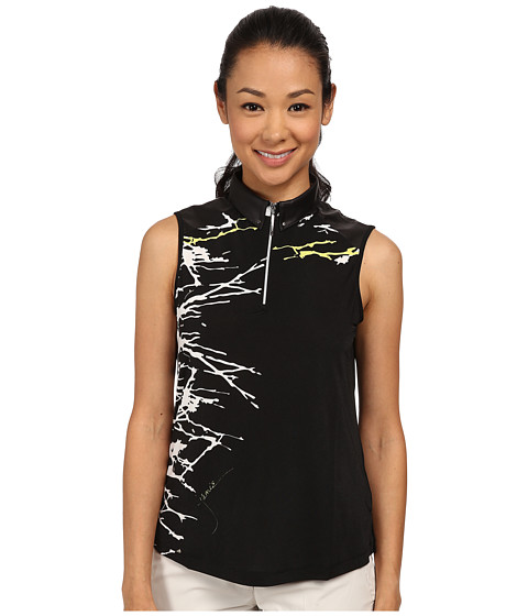 Jamie Sadock - Bonsai Print Sleeveless Top (Jet Black) Women's Sleeveless