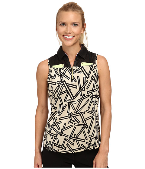 Jamie Sadock - Chopstix Sleeveless Top with Mesh at Shoulders (Shitaki) Women's Sleeveless