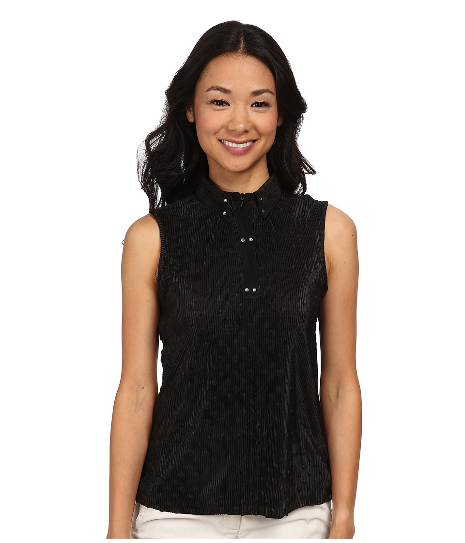 Jamie Sadock - Popcorn Crunchie Sleeveless Top (Jet Black) Women's Sleeveless
