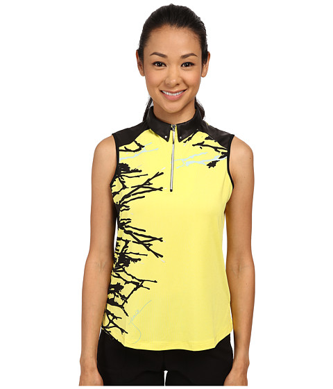 Jamie Sadock - Bonsai Print Sleeveless Top (Citronelle) Women