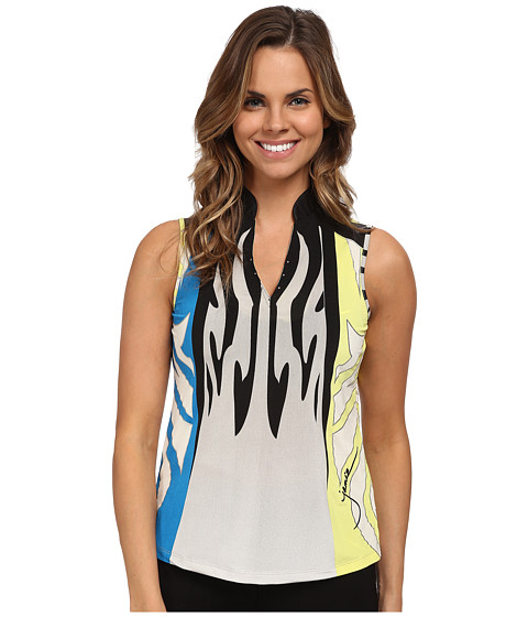 Jamie Sadock - Monarch Print Sleeveless Top (Cyber) Women's Sleeveless