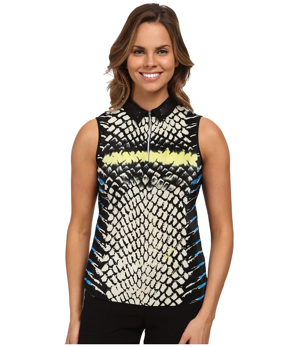 Jamie Sadock - Cobra Print Crunchie Sleeveless Top (Cyber) Women's Sleeveless