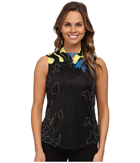 Jamie Sadock - Barcelona Print Crunchie Sleeveless Top (Buttercup) Women